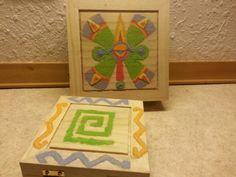 Sand painted jewelry box