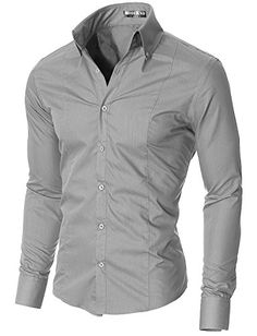 Men's Dress Shirts Slim Fit Long Sleeve High Button down Collar Cotton, Polyester High quality of workmanship; All men's shirts are designed and produce Men Dress, Shirt Dress, Slim Fit Dress Shirts, Well Dressed Men, Casual Shirts For Men, Types Of Sleeves, Stylish Outfits, Black Men, Long Sleeve Shirts