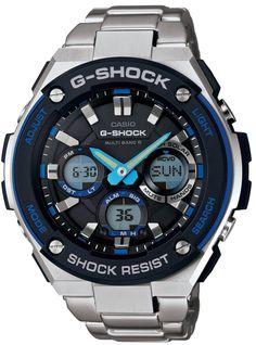 Amazon.co.jp: [カシオ]CASIO 腕時計 G-SHOCK G-STEELシリーズ 世界6局電波対応ソーラーウォッチ GST-W100D-1A2JF メンズ: 腕時計通販