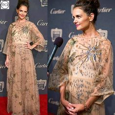 #katieholmes in #valentino at the #cartiernyc event