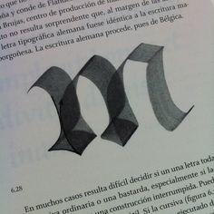 """tipobook: Construcción de la """"m"""" - El trazo / Gerrit Noordzij #typography (Taken with instagram)"""