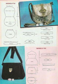 He encontrado en el blog . De mis manos tejidos y ma s... estos modelos de carteras y bolsos combinados que me han gustado mucho no solo po...