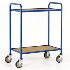 Tray Trolley - Small 2 Tray with Fixed Plywood Trays. Tough and durable. Moving Furniture, Furniture Movers, Folding Trolley, Lift Table, Truck Transport, Stair Climbing, Hazardous Materials, Wall Racks, Plastic Containers