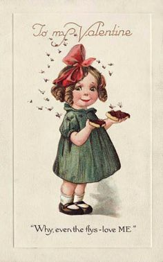 Vintage Valentine: Flies by pageofbats, via Flickr