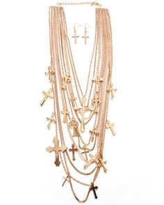 MULTILAYER CROSS NECKLACE. Get it at DJPremium.com