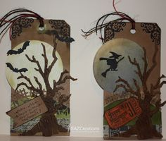 Tim Holtz Halloween | Creations by SAZ: Halloween Treats and Halloween Tags.