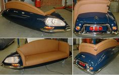 A sofa made from #recycled car part