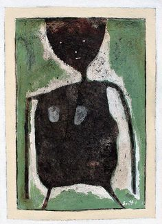 Green 2 by Scott Bergey  15 x 11, mixed media on paper. December 2011