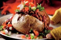 Salsa baked potatoes with chilli | Potato recipes recipe - goodtoknow