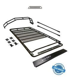 Purchase of GOBI Toyota GEN Stealth Rack includes free wind deflector, two free removable cross bars, and free rear ladder! Gobi Rack, 4runner Accessories, Car Accessories, Toyota 4runner Trd, Toyota Hiace, Toyota Tacoma, Golf 2, Sun Roof, Cars