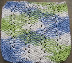 "size: 8"" x 8"" (20 cm x 20 cm) materials needed: 30 grams of cotton for dishcloths, 1 pair of 4.5mm (US 7) straight knitting needles, somet..."