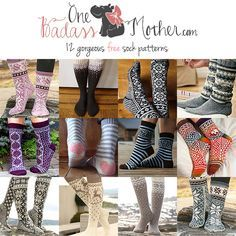 Fabulous Finds for September: Free Sock Knitting Patterns | One Badass Mother