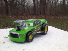 Rare Chick Hicks Blown HTB Hostile Takeover Bank Diecast Car Disney Pixar Cars #Disney
