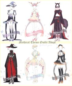 [CLOSED] Mythical Theme Outfit Adopt #24 by Black-Quose.deviantart.com on @DeviantArt