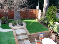 Concrete and astro turf in the backyard. Canine urine wont destroy that, and it always looks green :)