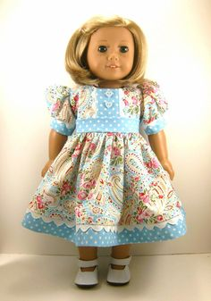 American Girl Doll Clothes 18 Inch Dolls Paisley by dressurdolly2, $20.00