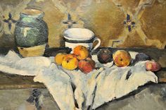 Paul Cezanne (French, 1839-1906): Still Life with Jar, Cup and Apples, 1872, Metropolitan Museum of Art, NYC