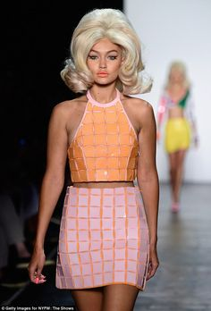 Gigi Hadid wears a wig as she takes Jeremy Scott catwalk by storm at NYFW | Daily Mail Online