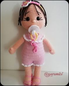 This is a great amigurumi crochet doll free pattern. Amigurumi knitting toys will continue to share everything related to you. Doll Amigurumi Free Pattern, Crochet Amigurumi Free Patterns, Crochet Doll Pattern, Amigurumi Doll, Crochet Eyes, Doll Patterns, Crochet Projects, Baby, Crochet Party Dresses