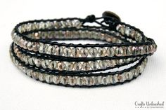 Excellent wrap bracelet tutorial with photos.