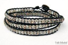 Excellent wrap bracelet tutorial with photos.