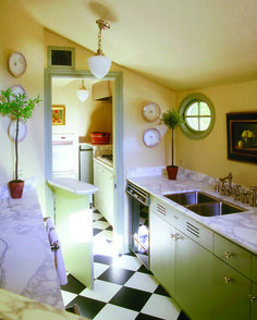 Love the half door for a kitchen/laundry room divider.
