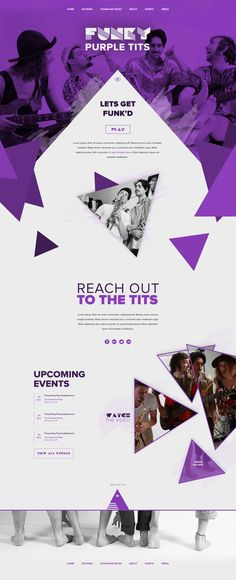 Unique Web Design, Funky Purple Tits #webdesign #design (http://www.pinterest.com/aldenchong/)