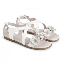 White leather sandals by Mayoral