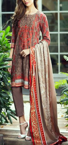 Buy Brown/Red Embroidered Karandi Salwar Kameez (2pc) by Bonanza 2015 Email: Info@PakRobe.com www.pakrobe.com https://www.pakrobe.com/Women/Clothing/Buy-Winter-Salwar-Kameez-Online #Winter_Salwar_kameez