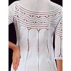 Needle Lace, Abaya Fashion, Dress Cuts, Crochet Clothes, Fashion Details, Frocks, Blouse Designs, Couture, Womens Fashion