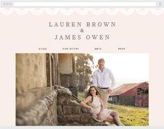 Forest tree Wedding Website in maroon. FREE at www.victoriaandrose ...