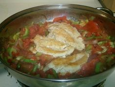 Chicken Casserole - traditional chicken stew with celery and tomato sauce flavoured with chillies. (Photo credit: Wendelina)