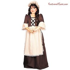 Colonial Girl  Child Costume at Costumes4Less.com