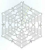 unit flower illustration - Her Crochet Crochet Doily Rug, Free Crochet Doily Patterns, Crochet Coaster Pattern, Crochet Snowflake Pattern, Crochet Stars, Crochet Motifs, Crochet Snowflakes, Crochet Diagram, Filet Crochet