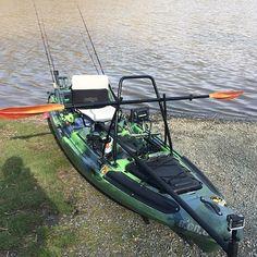 Maiden voyage for my rigged #jacksonkayaks #bigrig while #kayakfishing…