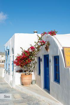 House of flowers, Oia, Santorini