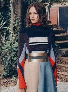 Peter Pilotto AW14 Knit Sweater in Madame Figaro.