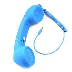 Contesta las llamadas con estos auriculares retro / Answer calls with these retro handset receiver