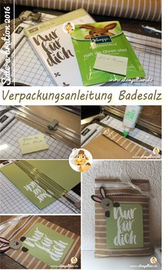 verpackung anleitung tutorial how to badesalz stampin up SAB saleabration gratis stempeltier maße geschenk kpl