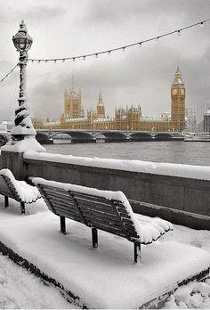 Snowy Day , London , England