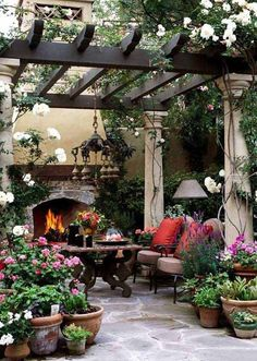 Did you want make backyard looks awesome with patio? e can use the patio to relax with family other than in the family room. Here we present 40 cool Patio Backyard ideas for you. Hope you inspiring & enjoy it . Backyard Patio Designs, Backyard Pergola, Pergola Designs, Backyard Landscaping, Pergola Ideas, Patio Ideas, Pergola Kits, Garden Ideas, Modern Backyard