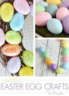 Plastic Easter Egg Craft Tutorials