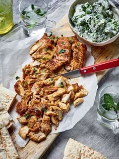 Nadiya Hussain's tasty chicken shawarma recipe is a real crowd-pleaser that beats your local kebab shop. Served with flatbreads and raw slaw, this makes a delicious midweek dinner. Nadiya Hussain Rezepte, Chicken Recipes List, Nadiya Hussain Recipes, Cooking Recipes, Healthy Recipes, Time To Eat, Indian Food Recipes, Bbc Good Food Recipes, Carne