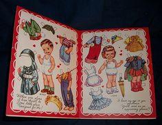 Ward and Joan Meri-card valentine paper dolls