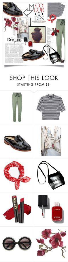"""""""Mules and Stripes!"""" by solespejismo ❤ liked on Polyvore featuring Erika Cavallini Semi-Couture, Monki, G.H. Bass & Co., Anja, WALL, rag & bone, Angela Valentine Handbags, L.A. Girl, ZeroUV and Crate and Barrel"""