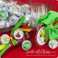 Teacher appreciation - stickers for hershey kisses