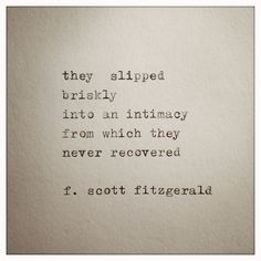 F. Scott Fitzgerald Love Quote Made On Typewriter by farmnflea,