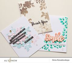 Stamp Focus : Floral Shadow for Altenew @akossakovskaya @altenew #cardmaking #altenew