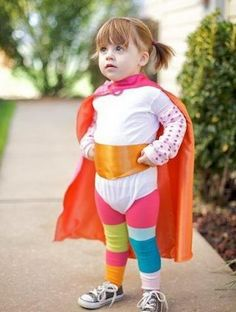 DIY Wonder Woman Costume for Little Girl - 50  Creative Homemade Halloween Costume Ideas  for Kids, http://hative.com/creative-homemade-halloween-costume-ideas-for-kids/,