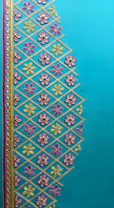 Tambour Embroidery, Embroidery Works, Machine Embroidery Projects, Machine Embroidery Applique, Hand Embroidery Designs, Best Blouse Designs, Bridal Blouse Designs, Saree Blouse Designs, Hand Work Blouse Design